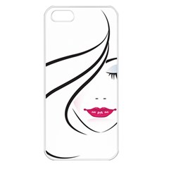 Makeup Face Girl Sweet Apple Iphone 5 Seamless Case (white)