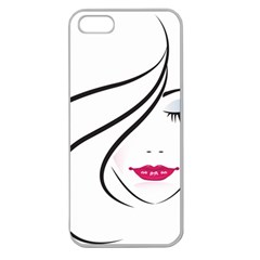 Makeup Face Girl Sweet Apple Seamless Iphone 5 Case (clear)