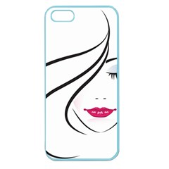 Makeup Face Girl Sweet Apple Seamless Iphone 5 Case (color)
