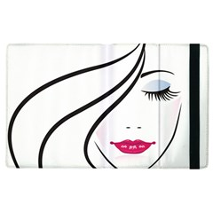 Makeup Face Girl Sweet Apple Ipad 2 Flip Case