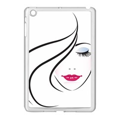 Makeup Face Girl Sweet Apple Ipad Mini Case (white)