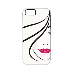 Makeup Face Girl Sweet Apple Iphone 5 Classic Hardshell Case (pc+silicone)