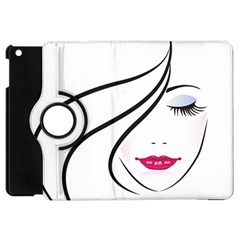 Makeup Face Girl Sweet Apple Ipad Mini Flip 360 Case