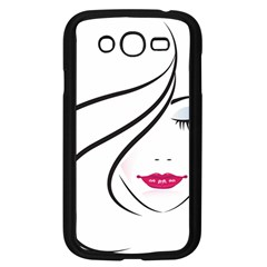 Makeup Face Girl Sweet Samsung Galaxy Grand Duos I9082 Case (black)