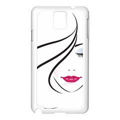 Makeup Face Girl Sweet Samsung Galaxy Note 3 N9005 Case (white)