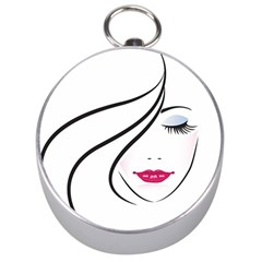 Makeup Face Girl Sweet Silver Compasses
