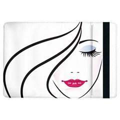 Makeup Face Girl Sweet Ipad Air Flip