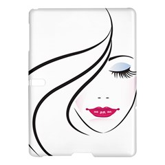 Makeup Face Girl Sweet Samsung Galaxy Tab S (10 5 ) Hardshell Case