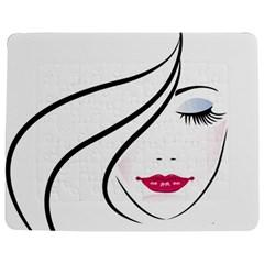 Makeup Face Girl Sweet Jigsaw Puzzle Photo Stand (rectangular)