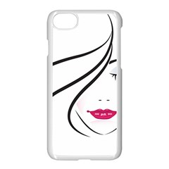 Makeup Face Girl Sweet Apple Iphone 8 Seamless Case (white)