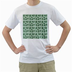 Green Boots Men s T Shirt (white) (two Sided)