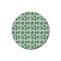 Green Boots Rubber Round Coaster (4 Pack)