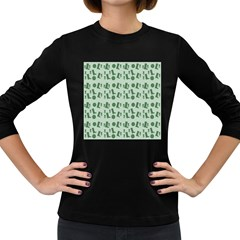 Green Boots Women s Long Sleeve Dark T Shirts