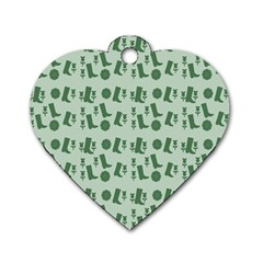 Green Boots Dog Tag Heart (two Sides)