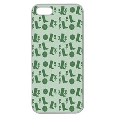 Green Boots Apple Seamless Iphone 5 Case (clear)