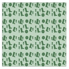 Green Boots Large Satin Scarf (square)
