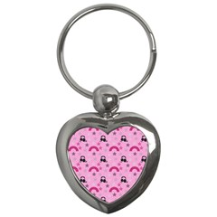 Music Stars Rose Pink Key Chains (heart)