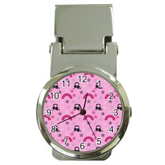 Music Stars Rose Pink Money Clip Watches