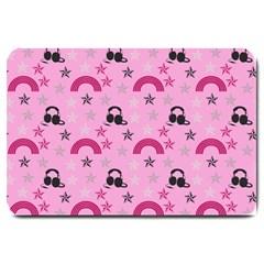 Music Stars Rose Pink Large Doormat