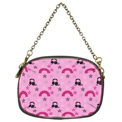 Music Stars Rose Pink Chain Purses (two Sides)