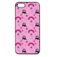 Music Stars Rose Pink Apple Iphone 5 Seamless Case (black)
