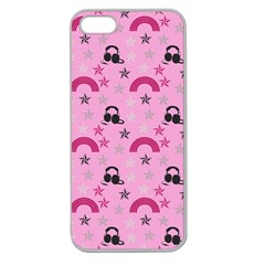 Music Stars Rose Pink Apple Seamless Iphone 5 Case (clear)