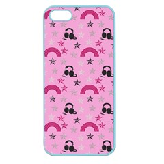 Music Stars Rose Pink Apple Seamless Iphone 5 Case (color)