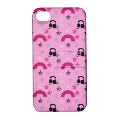 Music Stars Rose Pink Apple Iphone 4/4s Hardshell Case With Stand