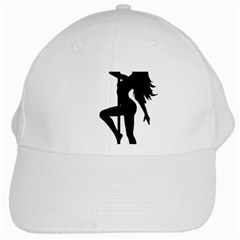Dance Silhouette Pole Dancing Girl White Cap