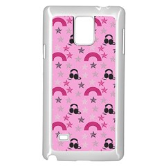 Music Stars Rose Pink Samsung Galaxy Note 4 Case (white)