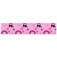 Music Stars Rose Pink Small Flano Scarf
