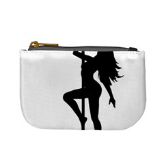 Dance Silhouette Pole Dancing Girl Mini Coin Purses