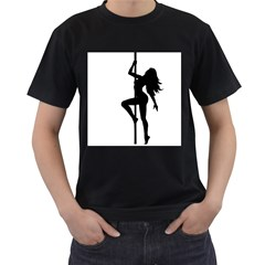 Dance Silhouette Pole Dancing Girl Men s T Shirt (black)