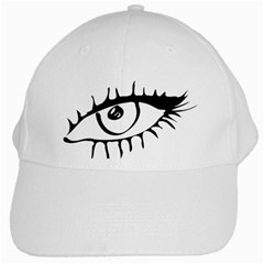 Drawn Eye Transparent Monster Big White Cap