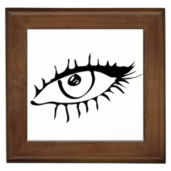 Drawn Eye Transparent Monster Big Framed Tiles