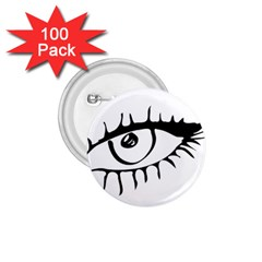Drawn Eye Transparent Monster Big 1 75  Buttons (100 Pack)