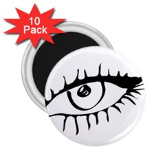 Drawn Eye Transparent Monster Big 2 25  Magnets (10 Pack)