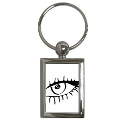 Drawn Eye Transparent Monster Big Key Chains (rectangle)