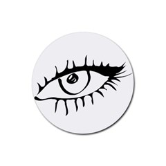 Drawn Eye Transparent Monster Big Rubber Round Coaster (4 Pack)