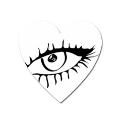 Drawn Eye Transparent Monster Big Heart Magnet