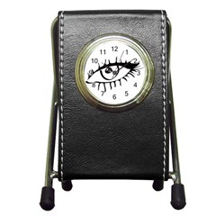 Drawn Eye Transparent Monster Big Pen Holder Desk Clocks