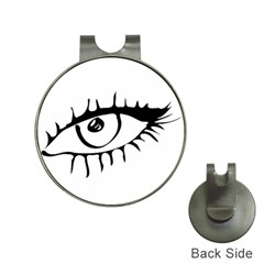 Drawn Eye Transparent Monster Big Hat Clips With Golf Markers