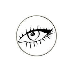 Drawn Eye Transparent Monster Big Hat Clip Ball Marker
