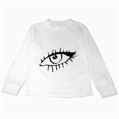 Drawn Eye Transparent Monster Big Kids Long Sleeve T Shirts