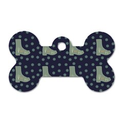 Blue Boots Dog Tag Bone (two Sides)