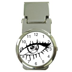 Drawn Eye Transparent Monster Big Money Clip Watches