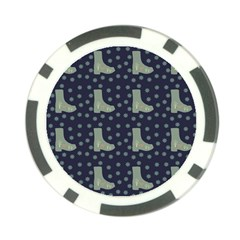 Blue Boots Poker Chip Card Guard