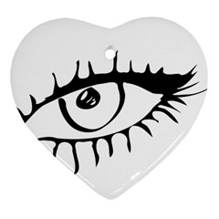 Drawn Eye Transparent Monster Big Heart Ornament (two Sides)
