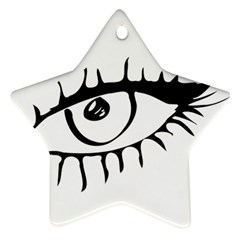 Drawn Eye Transparent Monster Big Star Ornament (two Sides)