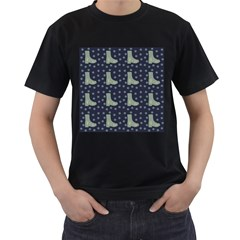 Blue Boots Men s T Shirt (black)